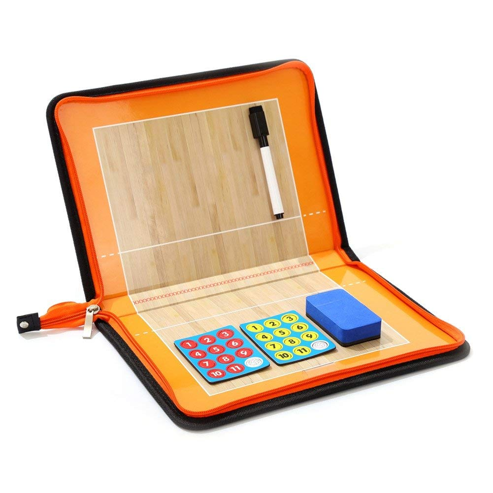Magnetic board with clasp